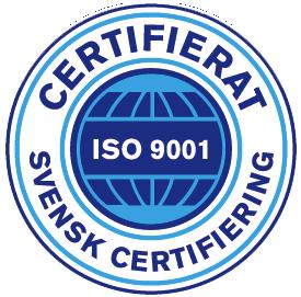 kvalitets arbete är certifierat